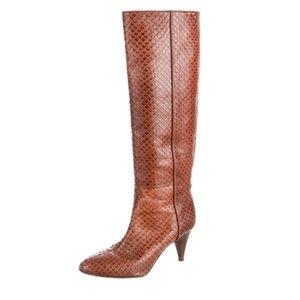 Cognac LOEFFLER RANDALL Leather Boots Sz 6.5